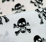 WeaverDee - Poly Cotton Fabric - Skulls Black on White - WeaverDee.com Sewing & Crafts - 3