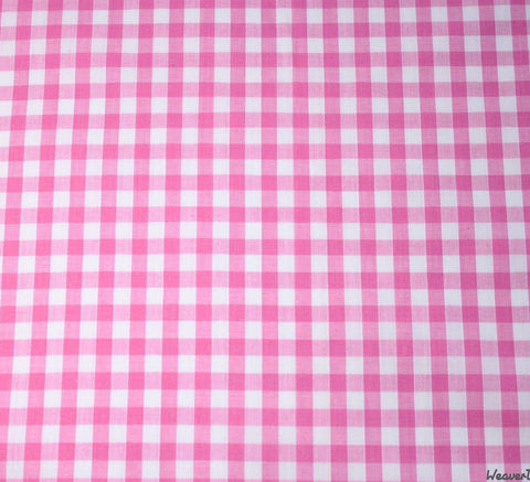 WeaverDee - Poly Cotton Fabric - Pink Gingham - WeaverDee.com Sewing & Crafts - 1