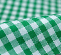 WeaverDee - Poly Cotton Fabric - Green Gingham - WeaverDee.com Sewing & Crafts - 1