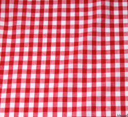 WeaverDee - Poly Cotton Fabric - Red Gingham - WeaverDee.com Sewing & Crafts - 1