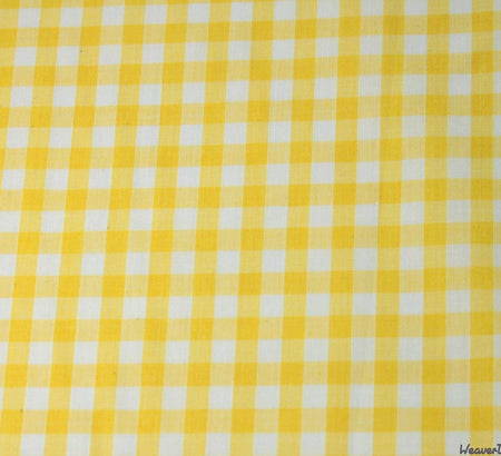 WeaverDee - Poly Cotton Fabric - Yellow Gingham - WeaverDee.com Sewing & Crafts - 1