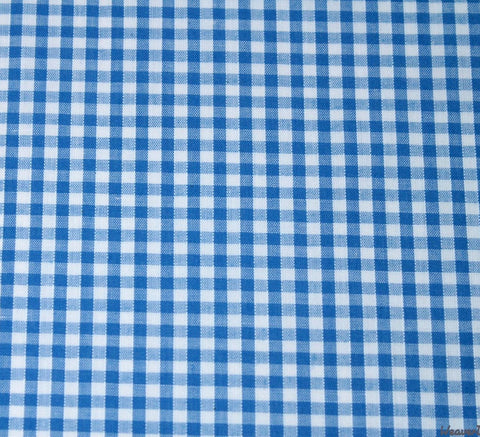 WeaverDee - Poly Cotton Fabric - Blue Gingham - WeaverDee.com Sewing & Crafts - 1