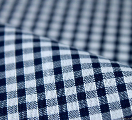 WeaverDee - Poly Cotton Fabric - Navy Gingham - WeaverDee.com Sewing & Crafts - 1