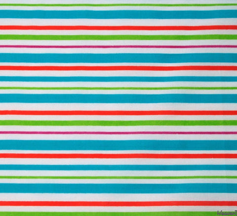 WeaverDee - Poly Cotton Fabric - Beach Stripe - WeaverDee.com Sewing & Crafts - 1