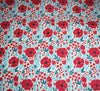 Poly Cotton Fabric - Poppy Heads Ivory