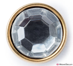 PRYM Crystal with Gold Ring Button 11 mm