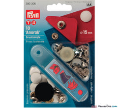Prym - Press Studs (No-Sew) - White 15mm: Pack of 10 - WeaverDee.com Sewing & Crafts - 1