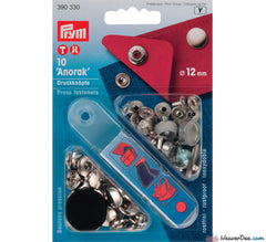 Prym - Press Studs (No-Sew) - Silver 12mm: Pack of 12 - WeaverDee.com Sewing & Crafts - 1