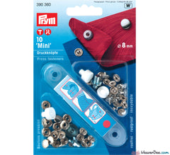 Prym - Press Studs (No-Sew) - Silver 8mm: Pack of 10 - WeaverDee.com Sewing & Crafts - 1