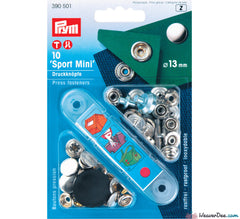 Prym - Press Studs (No-Sew) - Silver 13mm Heavyweight: Pack of 10 - WeaverDee.com Sewing & Crafts - 1