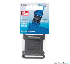 Prym - Clip Buckles for Bags / Overalls - Flat Plastic 35mm (Pk of 2) - WeaverDee.com Sewing & Crafts - 1