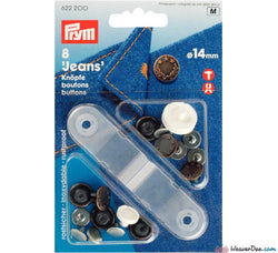 PRYM Jeans Buttons Antique Copper 14mm (No-Sew): Pack of 8