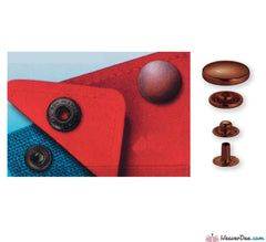 Prym - Press Studs (No-Sew) - Antique Copper 15mm: Pack of 10 - WeaverDee.com Sewing & Crafts - 1