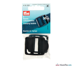 Prym - Clamping Buckles Plastic 30mm Black (Pack of 2) - WeaverDee.com Sewing & Crafts - 1