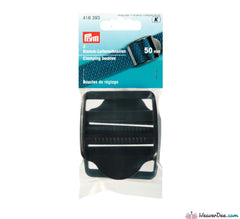 Prym - Clamping Buckles Plastic 50mm Black (Pack of 2) - WeaverDee.com Sewing & Crafts - 1