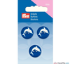Prym - Dolphin Buttons - Blue - WeaverDee.com Sewing & Crafts - 3