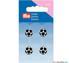 Prym - Football Buttons - Black & White - WeaverDee.com Sewing & Crafts - 1