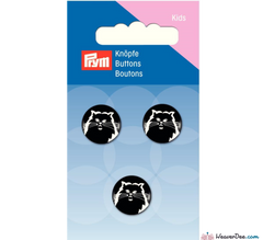 Prym - Cat buttons white - black - WeaverDee.com Sewing & Crafts - 1