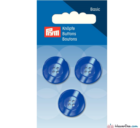 Prym - Four Hole Button - Pearlescent Blue - WeaverDee.com Sewing & Crafts - 1