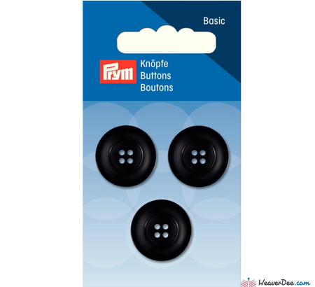 Prym - Four Hole Button - Deep Black - WeaverDee.com Sewing & Crafts - 1