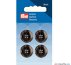 Prym - Menswear Buttons - Dark Grey - WeaverDee.com Sewing & Crafts - 2