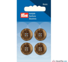Prym - Menswear Buttons - Beige Brown - WeaverDee.com Sewing & Crafts - 2
