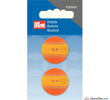 Prym - Button Striped Yellow Orange 25 mm - WeaverDee.com Sewing & Crafts