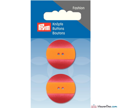 Prym - Button Striped Yellow Red 25 mm - WeaverDee.com Sewing & Crafts