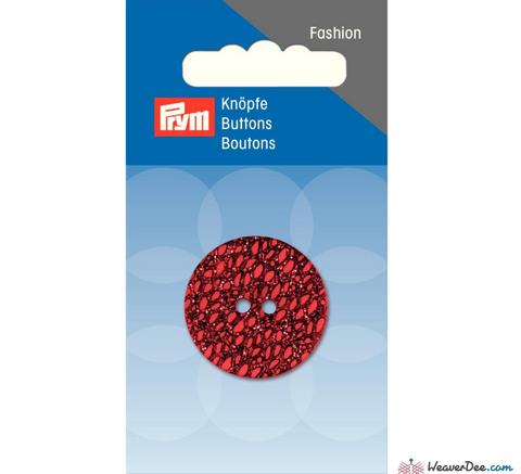 Prym - Glitter Button - Red 28 mm - WeaverDee.com Sewing & Crafts