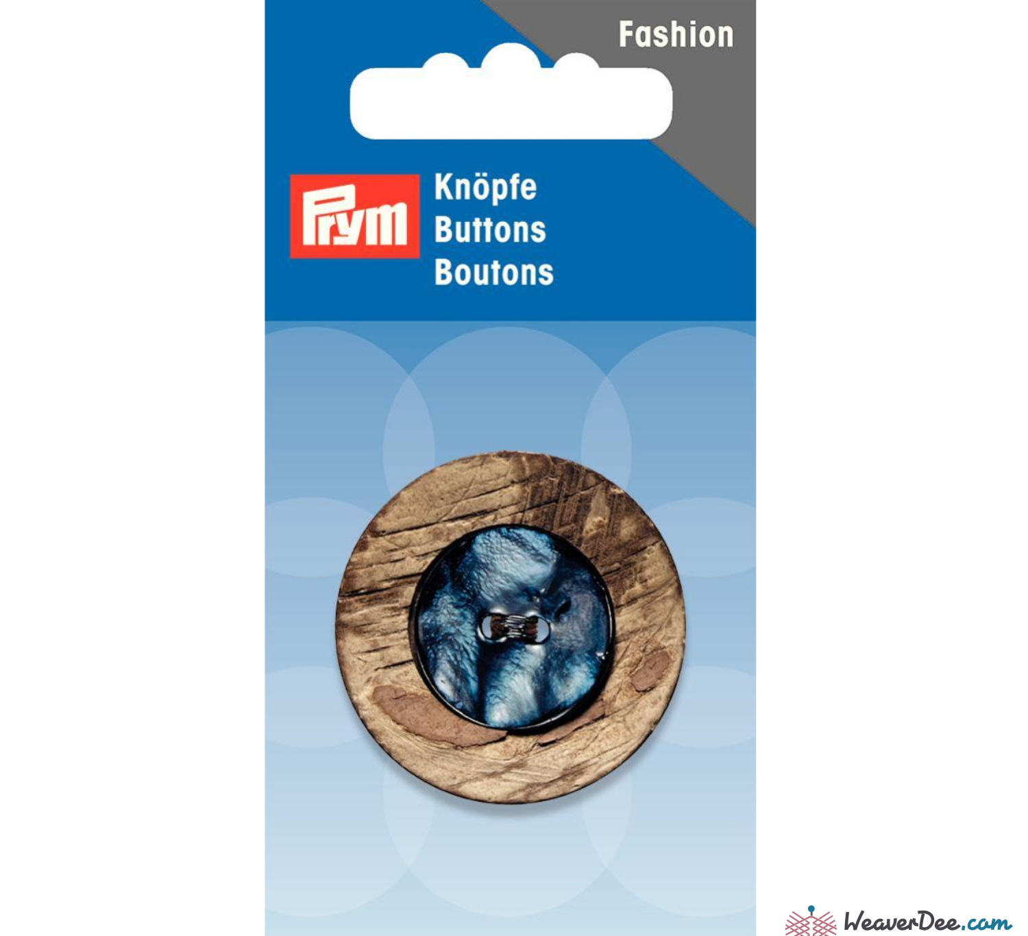 Prym - Coconut and Mother of Pearl button 34 mm - WeaverDee.com Sewing & Crafts - 1