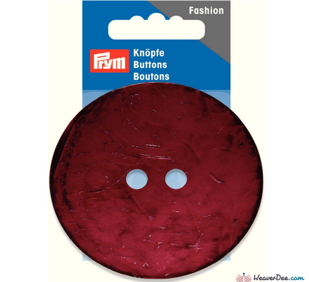 Prym - Coconut Button - Round 70 mm - WeaverDee.com Sewing & Crafts - 1