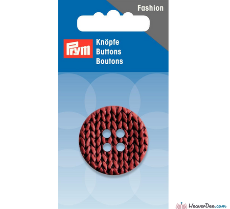 Prym - Knitted Look Buttons 32 mm - WeaverDee.com Sewing & Crafts - 1