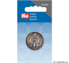 Prym - Antique Silver Effect button 28 mm - WeaverDee.com Sewing & Crafts