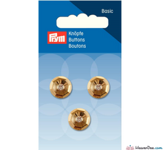 Prym - Gold with Crystal Stone Button 14 mm - WeaverDee.com Sewing & Crafts