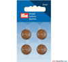 Prym - Leather Effect Button - Camel - WeaverDee.com Sewing & Crafts - 1