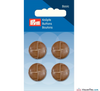 Prym - Leather Effect Button - Camel - WeaverDee.com Sewing & Crafts - 2