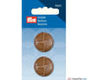 Prym - Leather Effect Button - Camel - WeaverDee.com Sewing & Crafts - 3