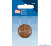 Prym - Leather Effect Button - Camel - WeaverDee.com Sewing & Crafts - 4