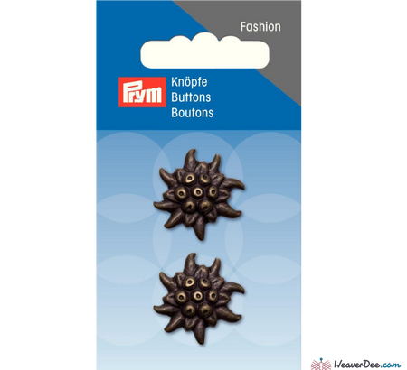 Prym - Jacket Buttons - Floral Bronze - WeaverDee.com Sewing & Crafts - 1