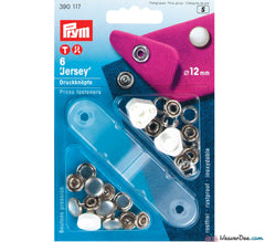 Prym - Press Studs (No-Sew) - Pearl 12mm: Pack of 6 - WeaverDee.com Sewing & Crafts - 1