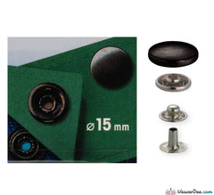 Prym - Press Studs (No-Sew) - Gun Black 15mm Heavyweight: Pack of 10 - WeaverDee.com Sewing & Crafts - 1