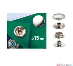 Prym - Press Studs (No-Sew) - Silver 15mm Heavyweight: Pack of 10 - WeaverDee.com Sewing & Crafts - 1