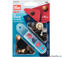 Prym - Press Studs (No-Sew) - Antique Brass 15mm - WeaverDee.com Sewing & Crafts - 1
