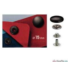 Prym - Press Studs (No-Sew) - Gun Black 15mm Mid Weight: Pack of 10 - WeaverDee.com Sewing & Crafts - 1