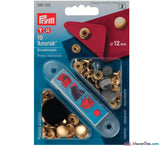 Prym - Press Studs (No-Sew) - Gold 12mm: Pack of 10 - WeaverDee.com Sewing & Crafts - 1