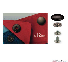 Prym - Press Studs (No-Sew) - Gun Black 12mm Mid Weight: Pack of 10 - WeaverDee.com Sewing & Crafts - 1