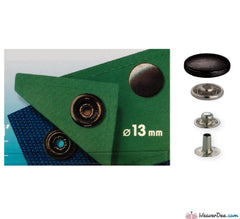 Prym - Press Studs (No-Sew) - Gun Black 13mm Heavyweight: Pack of 10 - WeaverDee.com Sewing & Crafts - 1
