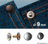Prym - Jeans Rivets (No-Sew) Silver 9mm: Pack of 24 - WeaverDee.com Sewing & Crafts - 2