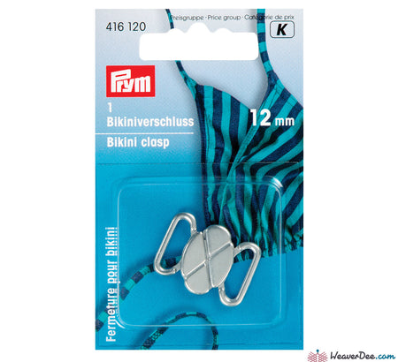 Prym - Bikini Clasps / Clover Leaf Shape / Silver Colour - WeaverDee.com Sewing & Crafts