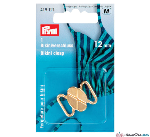 Prym - Bikini Clasps / Clover Leaf Shape / Metal Gold Colour - WeaverDee.com Sewing & Crafts